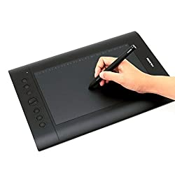 Huion H610PRO Graphic Pen Tablet (10 inch), Black