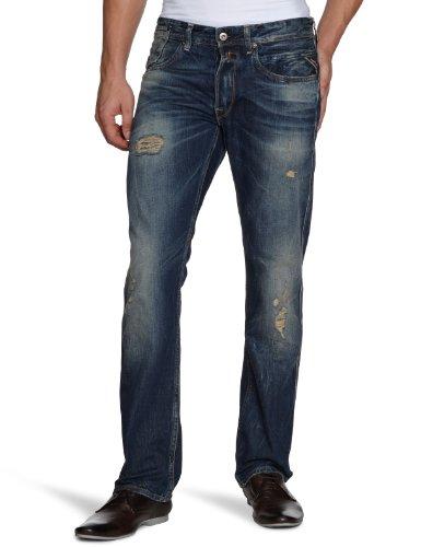 Replay Men's Tracco Ma912 .000.118 038 Straight Leg Jeans Blue (12.5 Oz Flat Finish Denim) 33/32