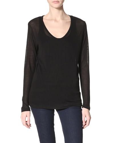 LnA Women's Vogel Cutout Sweater  - Black