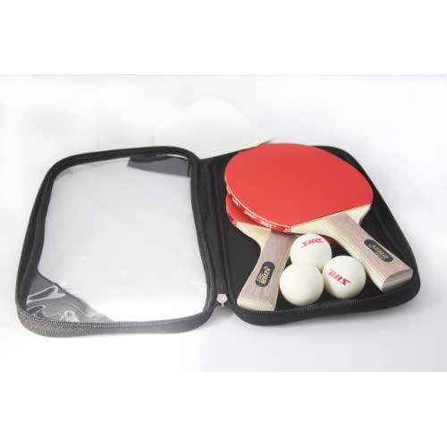 DHS 2  Set Table Tennis / Ping Pong Racket with 3 Balls Included  Penhold