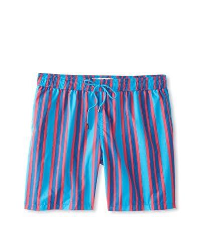 "Mr. Swim Men's Wide Stripe 7.5"" Swim Trunks"