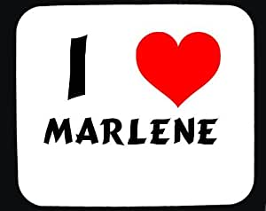Amazon.com: I Love Marlene custom mouse pad (first name/surname