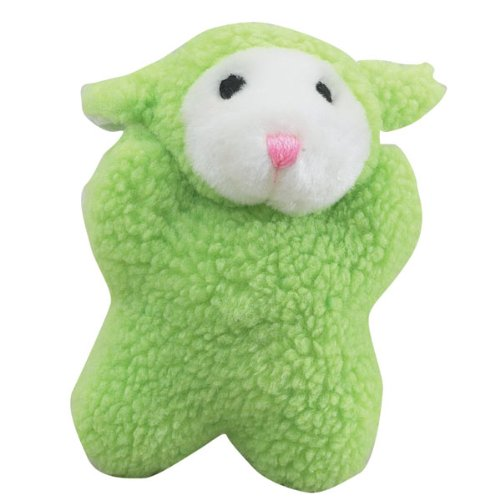 Zanies Cuddly Berber Fleece Babies Dog Toy, Lamb, 8-Inch, Green