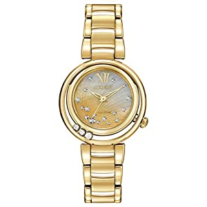 Citizen Women's EM0322-53Y Sunrise Analog Display Japanese Quartz Gold Watch