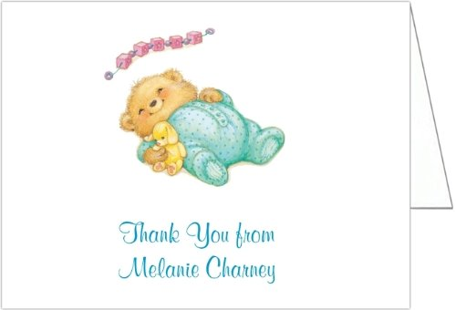 Sleeping Cutie Blue Baby Shower Thank You Cards - Set Of 20 front-1036297