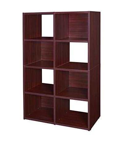 Regency Pixel Cube Bookcase, Mahogany