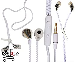 New Designed Zipper Style In Ear Bud Earphones Handsfree Compatible For Huawei Honor Holly U19 -White