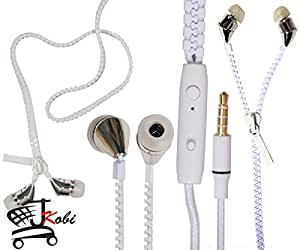 New Designed Zipper Style In Ear Bud Earphones Handsfree Compatible For Samsung Galaxy S3 Neo i9300 -White