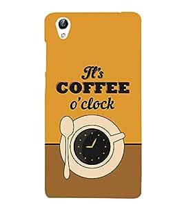 It's Coffee Time 3D Hard Polycarbonate Designer Back Case Cover for VIVO Y51L :: Y 51L