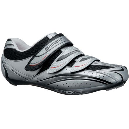 Shimano 2013 Men's Road Sport Cycling Shoes - SH-R077 (Silver - 44)