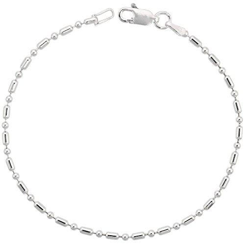 925 argento sterling catena Unisex similperle, 1,8 mm disponibile in lunghezze 18-76 cm, Argento, cod. SIL-TOL11-8