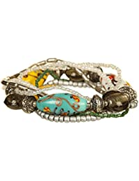 DCA Glass/Steel Multicolor Women Bangle/Bracelet available at Amazon for Rs.85