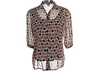 Buy Plus C.B. Career Brown Multi 2 PC. Sheer Blouse