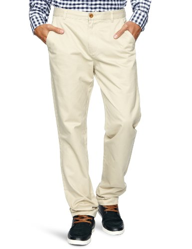 Brooks Brothers University Slim Fit Tapered Men's Trousers Khaki W36 INxL34 IN