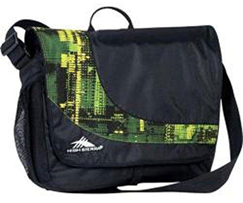 High Sierra Chip Messenger Bag,16 x 11.5 x 4.5-Inch,Black/Covert