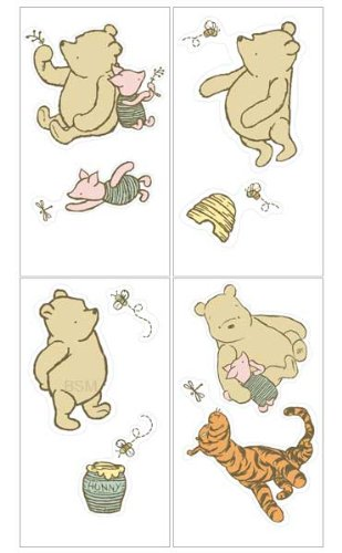 Disney My Friend Pooh Stickers Appliques Wall Decals Featuring Pooh, Piglet, And Tigger (Discontinued By Manufacturer) front-560825