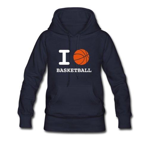 Spreadshirt, love_basketball, Women's Hoodie, navy, S