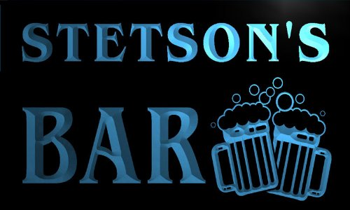 w008121-b-stetsons-nom-accueil-bar-pub-beer-mugs-cheers-neon-sign-biere-enseigne-lumineuse