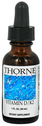 THORNE RESEARCH  Vitamin D/K2 Liquid  1oz [Health and Beauty] Picture