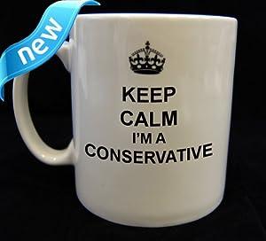 Keep Calm and Carry on Conservative Mug