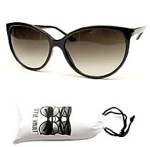Wm513-vp Thin Frame Cateye Vintage Retro Sunglasses (black w pouch, uv400)
