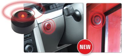 MP Essentials Stick on Battery Wireless Red LED Flashing Light Car Fake Dummy Alarm (Car Battery Alarm compare prices)