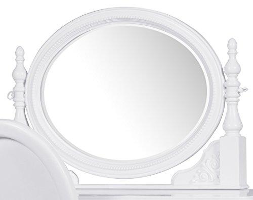 White Bedroom Vanity With Mirror front-62102