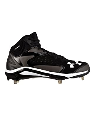 Under Armour Mens UA Yard Mid ST Baseball Cleats by Under Armour