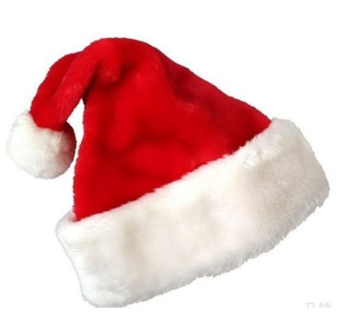 Generic Plush Santa Hat for Chrismas - 1