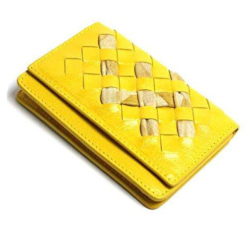 (ボッテガヴェネタ)BOTTEGA VENETA ボッテガべネタ カードケース 名刺入れ イントレチャート イエロー [ブランド][アウトレット品]133945-vk874-7182