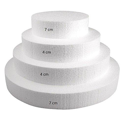 Pièce montée polystyrène - Ø 30 à 10cm - Haut 22 cm - 4 p - Rayher