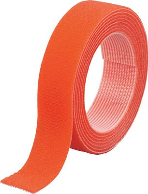 TRUSCO マジックバンド結束テープ 両面 オレンジ 20mm×1.5m