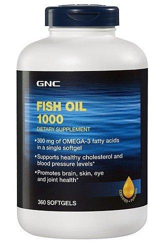 GNC Fish Oil 1000, 300 mg of Omega-3 Fatty Acids, Softgels 360 ea (Gnc Fish Body Oils 1000 compare prices)