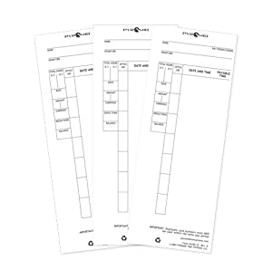Pyramid 44100-10 100 Count Time Cards for Pyramid 4000, 4000Pro, 4000HD, 5000 and 5000HD Time Clocks