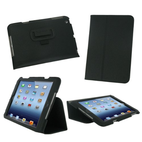 rooCASE Apple iPad Mini Case - Ultra Slim Stand Case - BLACK (With Smart Cover Auto Wake / Sleep)