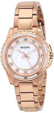 Bulova Women's 98P141 Analog Display Japanese Quartz Rose Gold Watch