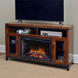 Comfort Smart Harper Infrared Electric Fireplace Entertainment Center in Birch - CS-26MM-BIR
