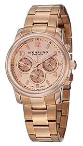 Stuhrling Original Women's 796B.03 Vogue Aruba Analog Display Swiss Quartz Rose Gold Watch