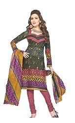Sanjeeban Fashion Studio Women's Cotton Dress Material (FE_71_Multi-Coloured_Free Size)