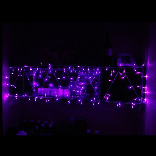 Innoo Tech 110V 10M/100 Led Linkable String Lights With 8 Function Modes For Christmas,Party,Wedding And Other Decorations(Purple)