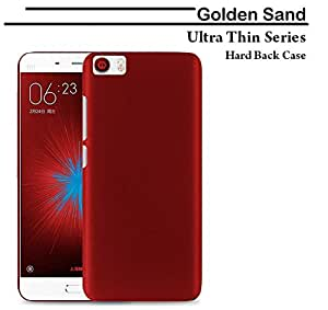 For Xiaomi Mi5 Golden Sand Ultra Thin Series Rugged Hard Back Case; Velvet feel, Strong, High Quality 0.5mm Flexible PC Shell Perfect Fit Cover - RoseWood