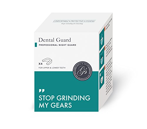 Professional Dental Guard - Pack Of 4 - Stops Teeth Grinding, Bruxism & Eliminates Teeth Clenching. Includes Fitting Instructions & Anti-Bacterial Case. 100% Satisfaction Guaranteed Nightguard! (Apnea Oral Appliance compare prices)