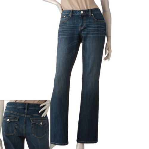 Amazon.com: Jennifer Lopez Embellished Bootcut Jeans