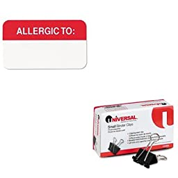 KITTAB01000UNV10200 - Value Kit - Tabbies Medical Labels for Allergies (TAB01000) and Universal Small Binder Clips (UNV10200)