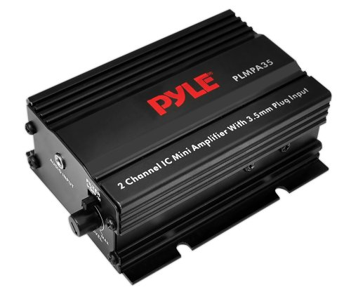 Pyle Plmpa35 2-Channel 300-Watt Mini Amplifier With 3.5Mm Input