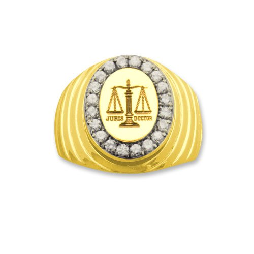 Lawyer 14k Professional Diamond Ring