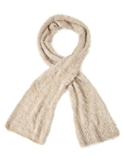 M&S Collection Cosy Fluffy Knitted Scarf
