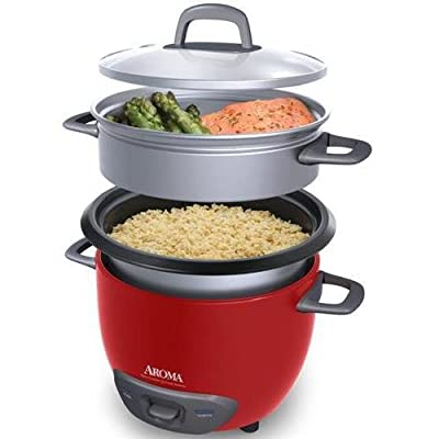 Aroma ARC-743-1NGR 6-Cup Pot-Style Rice Cooker & Food Steamer (AromaARC-743-1NGR ) by Aroma