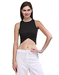 Xoxo Black Casual Poly Cotton Top