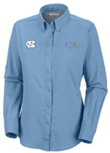 NCAA North Carolina Tar Heels Ladies Collegiate Tamiami II Long Sleeve Shirt by Columbia